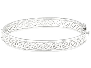 Sterling Silver Window to the Soul 9MM Bangle