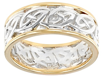 Picture of Sterling Silver and 10K Yellow Gold Ring