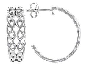 Sterling Silver Half Creole Bridge Earrings