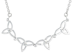Sterling Silver 1MM White Diamond 2-in-1 Synergy Necklace