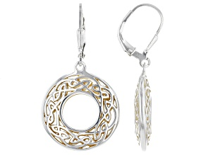 Sterling Silver and 22K Yellow Gold Earrings