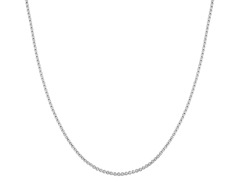 Pendant Chain Sterling Silver Box Link 18 inches Long