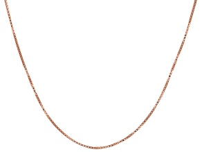 Pendant Chain 18k Rose Gold Over Sterling Silver Box Link 18 inches Long