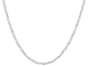 Sterling Silver Criss Cross Necklace 20 inch