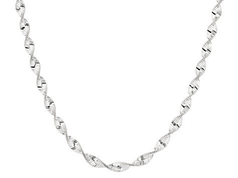 Sterling Silver Designer Chain Necklace 18 inch