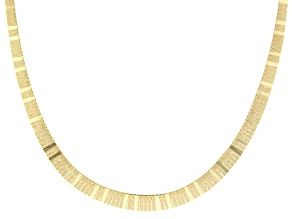 18K Yellow Gold Over Sterling Silver 11MM Graduated Cleopatra 17