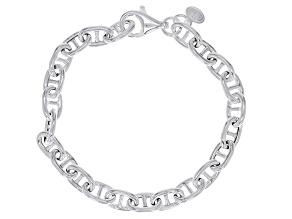 Sterling Silver 7MM Mariner Link Bracelet