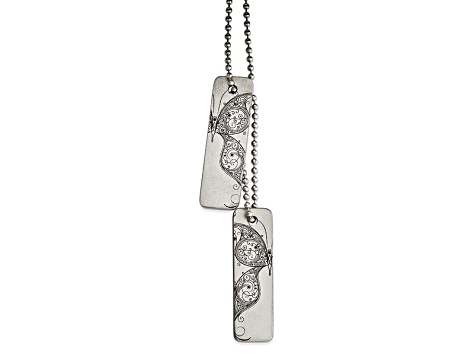 Stainless Steel Flying Thin Pendant Necklace