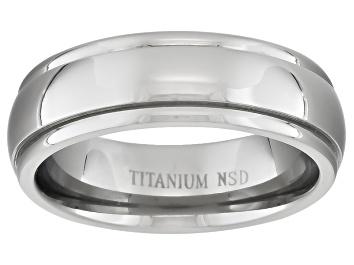 Picture of 6mm Men's Titanium Wide Edge Comfort Fit Band