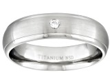 4mm Men's Titanium With .05ctw Diamond Accent Comfort Fit Band Ring