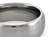 8mm Men's Brushed Titanium With Polished Edge Comfort Fit Band