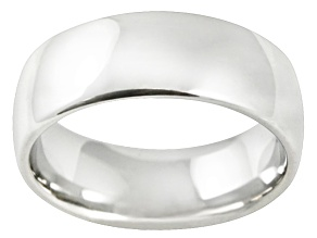 8mm Polished Cobalt Chrome Wedding Band