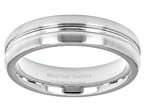Cobalt Chrome Single Groove Wedding Band