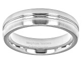 Cobalt Chrom Single Groove Wedding Band