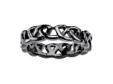 Black Ion Plated Stainless Steel Celtic Knot Ring