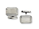 Stainless Steel Brushed And Polished Tapered Edged Cuff Links