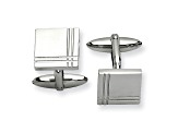 Stainless Steel Geometric Design Cuff Links
