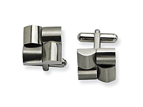 Stainless Steel Geometric Cuff Links