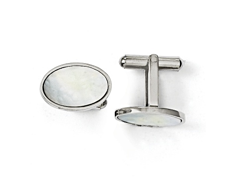 Mother Of Pearl Stainless Steel Cuff Links