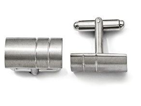 Titanium Bar Design Cuff Links