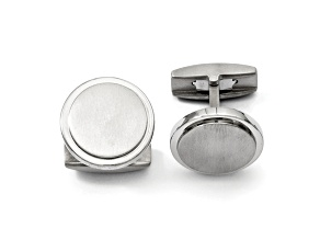 Titanium Circle Cuff Links