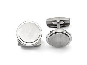 Titanium Circle Cuff Links