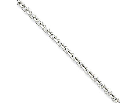 Stainless Steel 3mm Cable Link 24 inch Chain Necklace