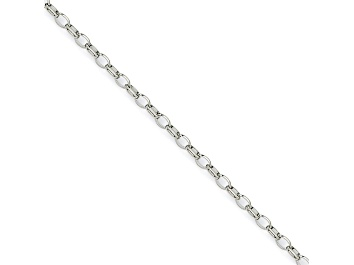 Picture of Stainless Steel 3mm Cable Link 24 inch Chain Necklace