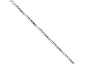 Stainless Steel 3mm Curb Link 16 inch Chain Necklace
