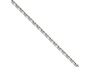 Stainless Steel 4mm Cable Link 30 inch Chain Necklace