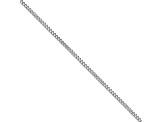 Stainless Steel 3mm Curb Link 22 inch Chain Necklace