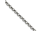 Stainless Steel 6mm Rolo Link 36 inch Chain Necklace