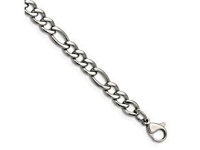 Stainless Steel Figaro Link 7 inch Bracelet
