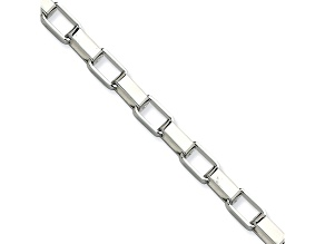 Stainless Steel Box Link 8 inch Bracelet