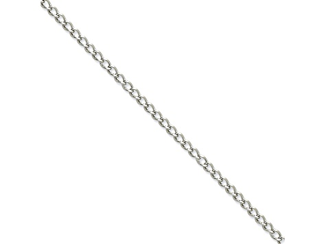 Stainless Steel 3mm Curb Link 20 inch Chain Necklace