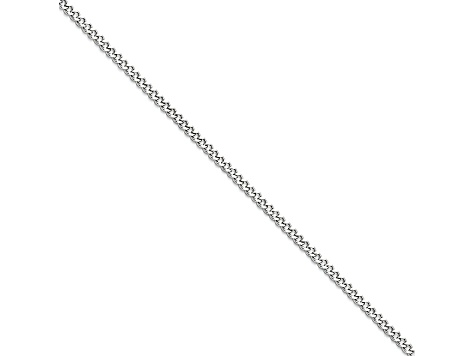 Stainless Steel 3mm Curb Link 18 inch Chain Necklace