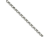 Stainless Steel 4.5mm Rolo Link 36 inch Chain Necklace