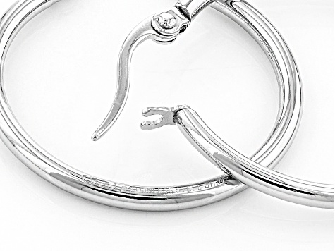 Stainless Steel 27mm Hoop Earrings