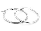Stainless Steel 32.50mm Hoop Earrings