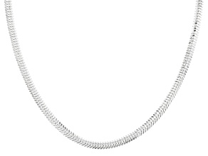 Sterling Silver Flat Snake Link Chain Necklace 18 inch