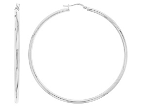 Sterling Silver Knifehedge Bold Hoop Earrings 2mm