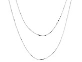 Sterling Silver Diamond Cut Bead Chain Necklace 20 And 24 inch Set Of Two