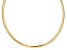 18k Yellow Gold Over Sterling Silver 6mm Omega Necklace 17 inch