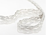 Sterling Silver Reversible Braided Herringbone Necklace 18 inch