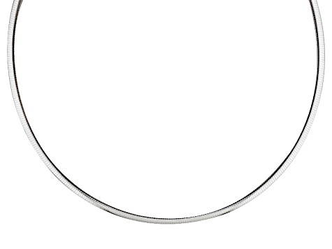 Sterling Silver Omega Link Chain Necklace