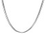 Sterling Silver Multi-Strand Snake Link Necklace 18 inch