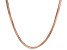 18k Rose Gold Over Sterling Silver Snake Link Chain Necklace 18 inches