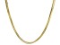 18k Yellow Gold Over Sterling Silver Snake Link Chain Necklace 18 inch