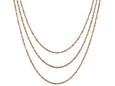 18k Rose Gold Over Silver Criss Cross Link Chain Set Of Three