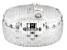 Sterling Silver Diamond Cut Omega Link Bracelet 7.5 inch